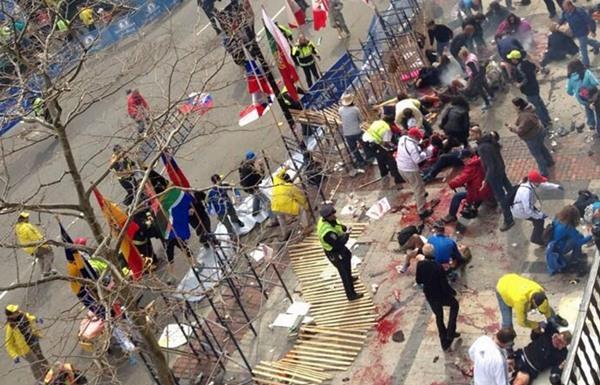 Imagen de los momentos posteriores a las explosiones. | EFE