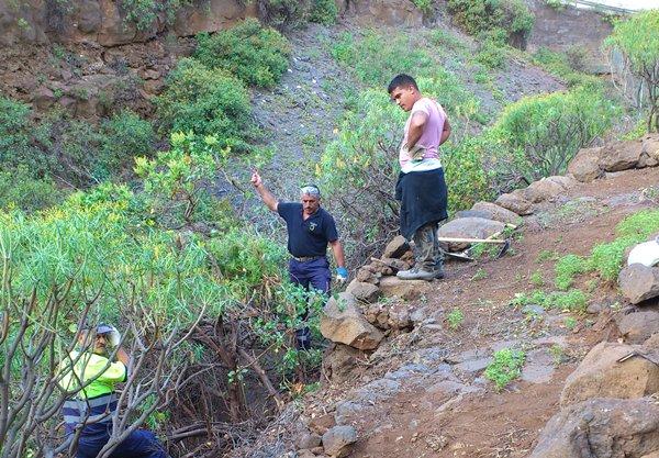 El Camino Viejo de Candelaria ya ha comenzado a rehabilitarse en Barranco Hondo.   DA