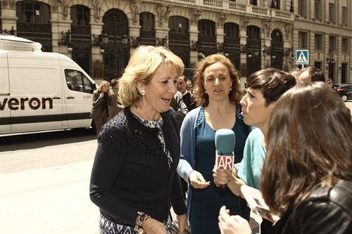 Esperanza Aguirre ha abogado hoy por favorecer las elecciones internas dentro de los partidos. / EP