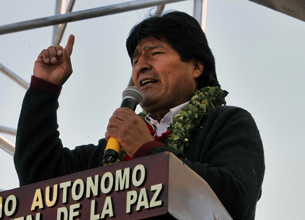 El presidente boliviano, Evo Morales, durante un acto. | EFE
