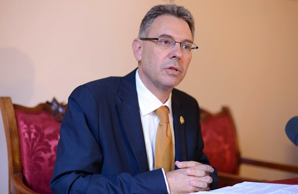 Jorge González, máximo responsble de la Real Sociedad Económica de Amigos del País  de Tenerife (Rseapt).   SERGIO MÉNDEZ