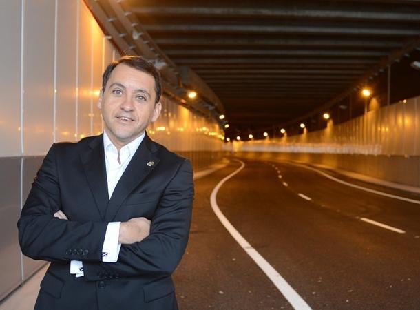 José Manuel Bermúdez en el túnel de la Vía Litoral. | SERGIO MÉNDEZ
