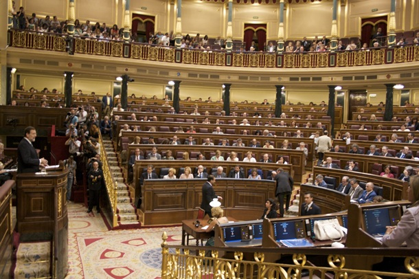 Pleno del Congreso de los Diputados, donde están representados 18 partidos y coaliciones. | DA