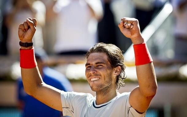 Rafael Nadal celebra su victoria en el  Master Series Mutua Madrid Open.   EFE