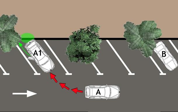 Recreación de los aparcamientos en espiga, habilitados en la calle doctor Antonio González. / DA