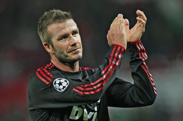 David Beckham durante un partido con el Milán. | DA
