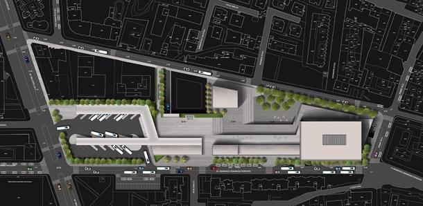 Infografía del anteproyecto de la futura estación de guaguas de Puerto de la Cruz, que se construirá en una parcela adyacente a la calle El Pozo. | DA