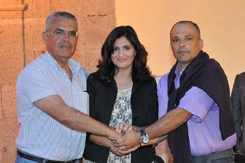 Mederos, Castro y Alfonso acordaron anoche el nuevo gobierno. / DA