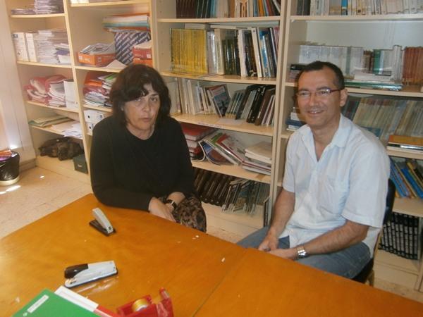 Los profesores Carmen Rosa Pérez y Pedro Suárez. | DA