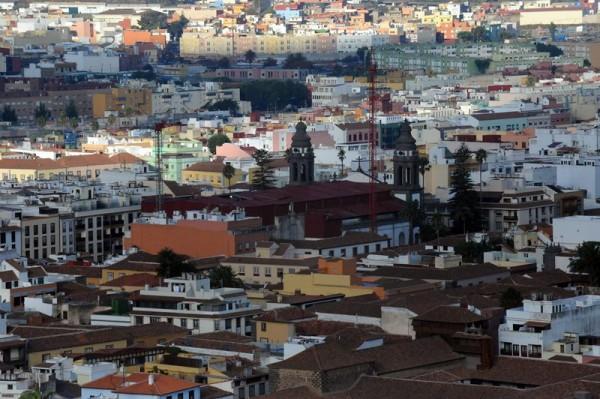 Vista del casco histórico de La Laguna, con la Catedral en el centro. | DA