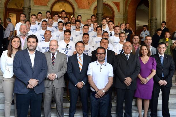 CD Tenerife visita Ayuntamiento Santa Cruz