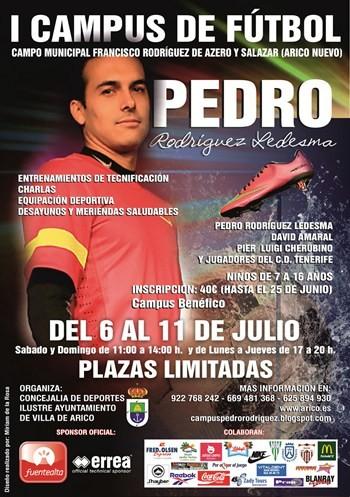 cartel Campus de fútbol Pedro Rodríguez
