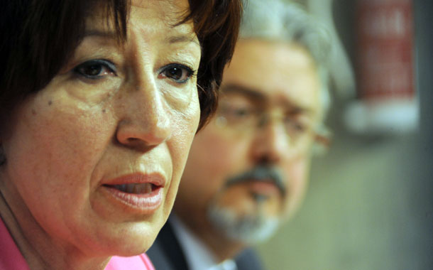 Inés Rojas y Martín Marrero en rueda de prensa