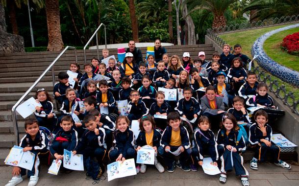 Alumnos del Colegio La Salle de La Laguna. / FRAN PALLERO