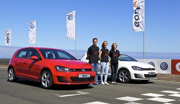 Magüi Melián (gerente de VW  Canarias) y Erwin Paetow, (Product Manager del Golf GTI), presentaron las novedades de la séptima generación del exitoso GTI en Maspalomas