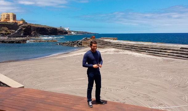 Bajamar recupera desde este sábado su playa, una vez reacondicionada