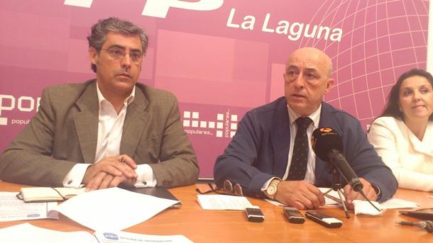 Partido Popular La Laguna rueda de prensa Las Chumberas