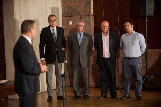 Paulino Rivero, José Carlos Francisco, Sebastián Grisaleña, Juan Jesús Arteaga y Gustavo Santana