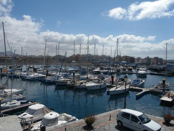 Vista del Puerto de Las Galletas
