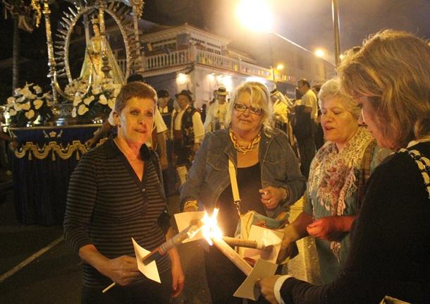 procesion Virgen de Los Ángeles El Sauzal