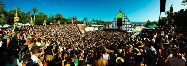 Imagen del público que acudió al Festival Ritmos del Mundo celebrado en el Siam Park