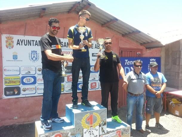 Circuito de San Miguel podio carreras Supermotard y Pit-Motard