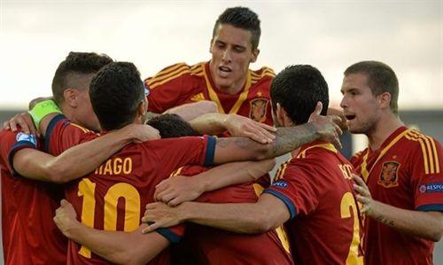 La selección española sub-21 ha conseguido este sábado la victoria contra Noruega (3-0), en la semifinal del Europeo de la categoría disputado en Israel. / EP