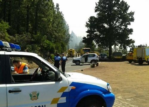 Una quema controlada en Aguamansa se convierte en conato de incendio en La Orotava