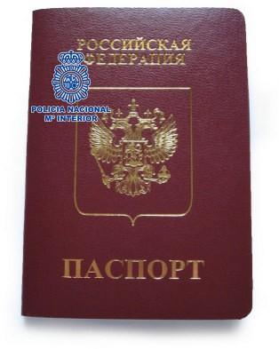 pasaporte ruso falso