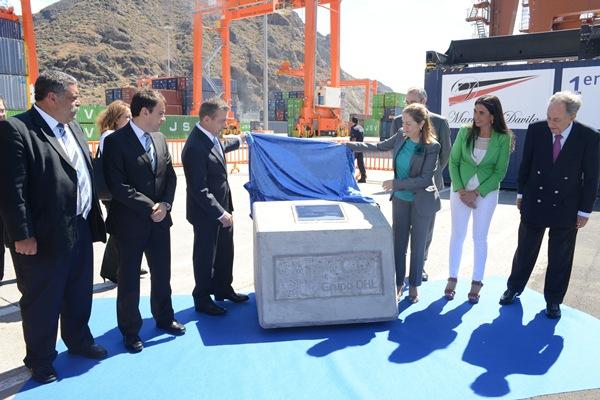 El acto estuvo presidido por la ministra de Fomento, Ana Pastor, y el presidente Paulino Rivero.   S. M.