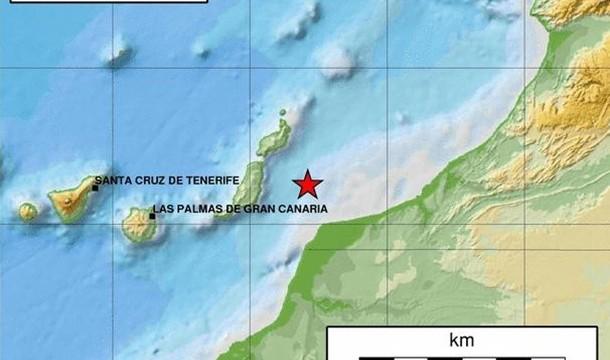 Seísmo de 3,7 grados cerca de Lanzarote y Fuerteventura