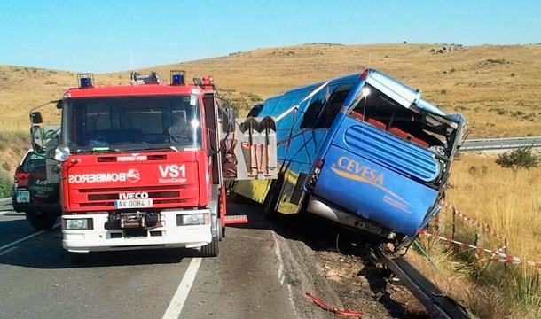 Libertad provisional para el conductor del autobús siniestrado en Ávila