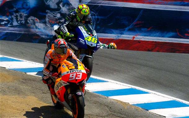 Marquez y Rossi Laguna Seca