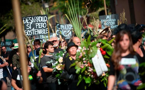 Protesta de vecinos PGO La Laguna