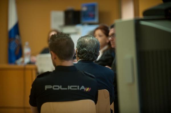 Imagen del acusado durante una de las sesiones de la vista. / F. PALLERO