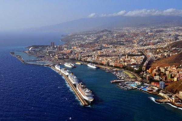 Puerto de santa cruz, vista aérea de Santa cruz de Tenerife