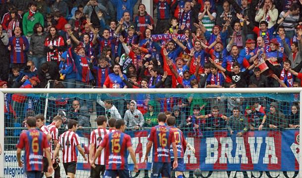 El equipo armero protagonizó el curso pasado una notable participación copera, siendo eliminado por el Athletic Club. / EFE