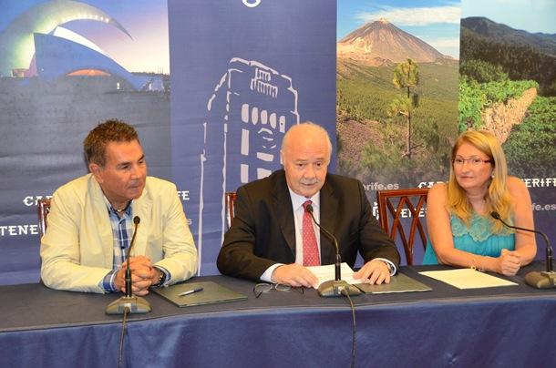 José Miguel Rodríguez Fraga, Ricardo Melchior y Ana Lupe Mora