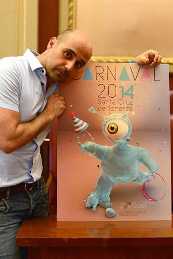 Juan Pedro Hidalgo cartel carnaval 2014 Aguitaaa