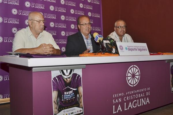 Acto de presentación de la LVIII Vuelta Ciclista Isla de Tenerife, prueba que constará de tres etapas. | DA