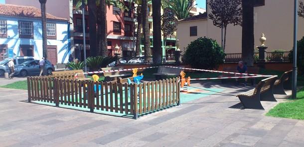 Parque infantil de la plaza del Doctor Olivera en La Laguna