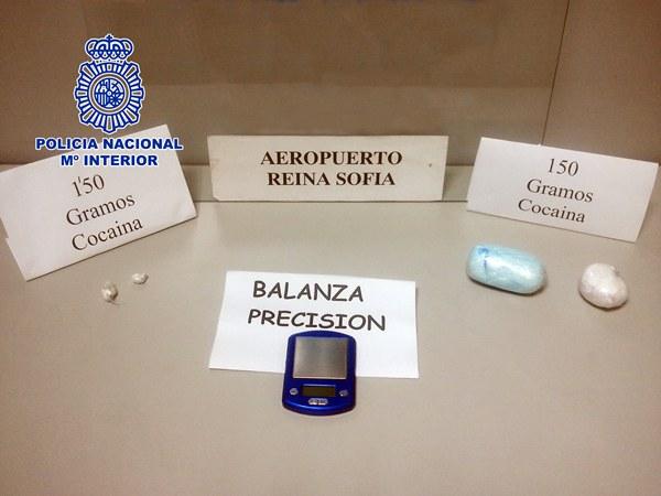 cocaína decomisada en el aeropuerto del Sur