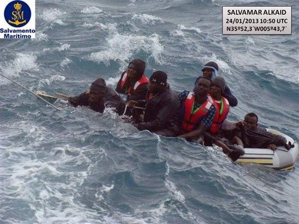 Salvamento inmigrantes Estrecho