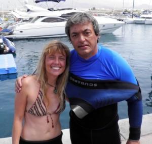 La pareja ganadora, Jorge López y Nuria Rizo. | DA