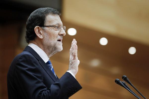 El presidente del Gobierno, Mariano Rajoy, durante el pleno del Congreso para hablar sobre el caso Bárcenas. | EFE