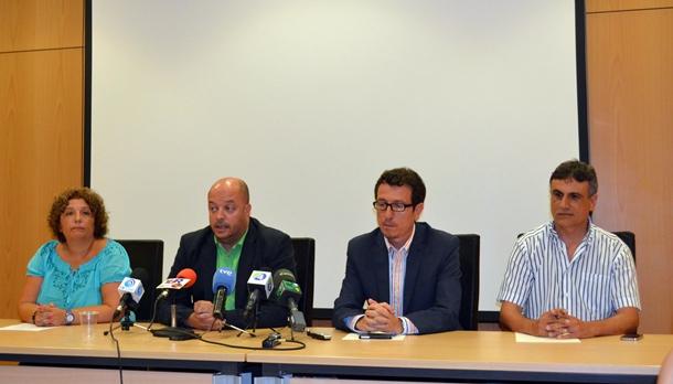 Elena Luis, José Díaz Flores, Jesús Morales y José Heriberto González