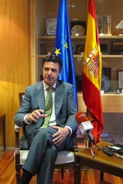 Foto de José Manuel Soria durante su entrevista