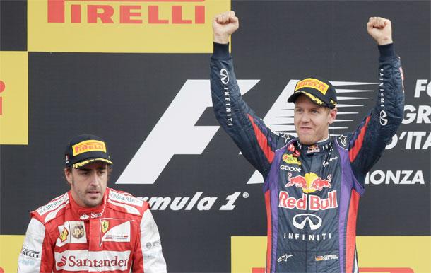 Alonso y Vettel Monza 2013