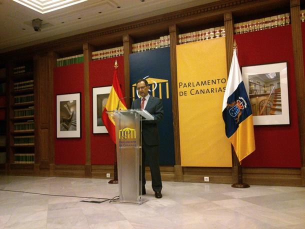 Antonio Castro Presidente Parlamento de Canarias