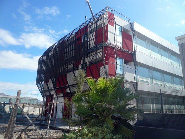 Fachada del Centro Tecnológico de Candelaria (CTCAN) a día de ayer. / NORCHIL